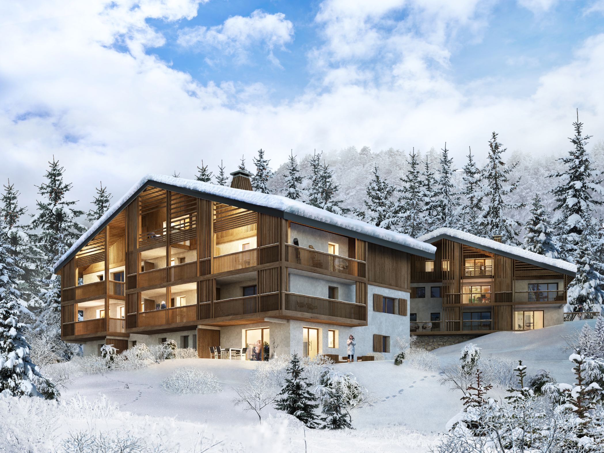 Projet de 19 appartements à Megève